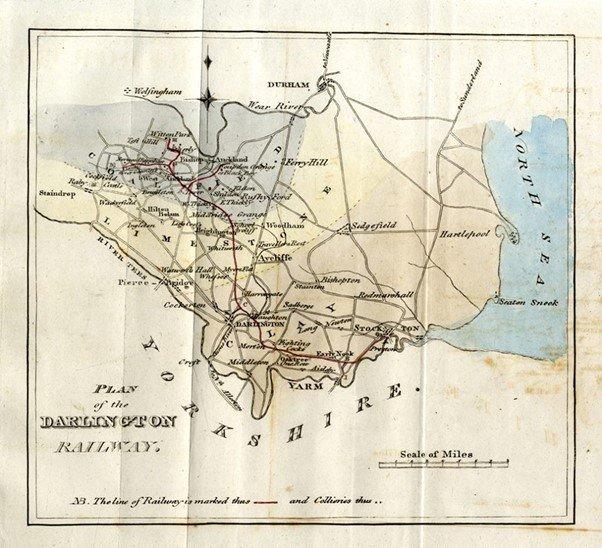 Historic Plan of the Darlington Railway