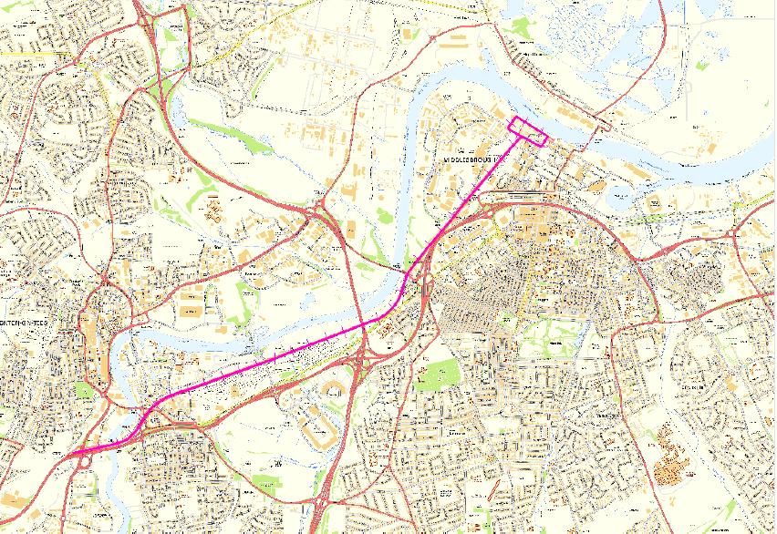 Middlesbrough branch line S&DR